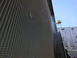 Nettoyage HP du mur d'eau à Aix-en-Provence